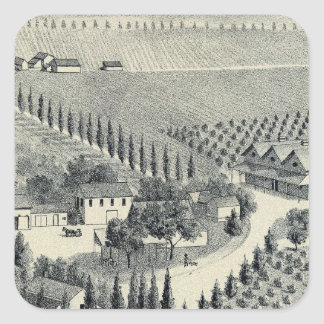 Eggers Vineyard, Fresno Square Sticker