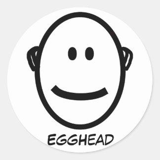 EggHead Round Stickers