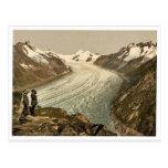 Eggishorn, glaciar magnífico de Aletsch, con Jungf Tarjetas Postales