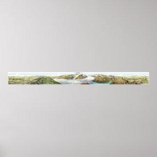 EGGISHORN Swiss Alps Panorama 360° Poster