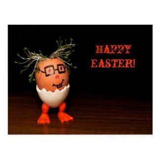 Eggman de la postal de Pascua del texto de la seri