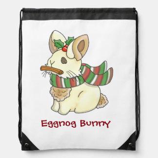 Eggnog Bunny Drawstring Bag