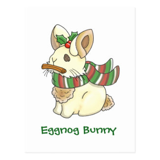 Eggnog Bunny Postcard