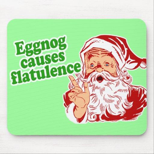 Eggnog Causes Flatulence Mousepads