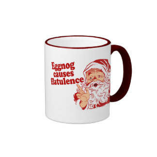 Eggnog Causes Flatulence Ringer Mug