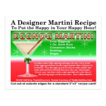Eggnog Christmas Martini Recipe Postcard