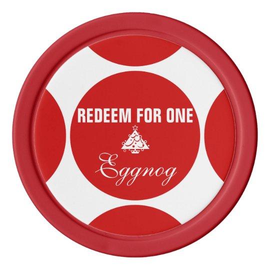 Eggnog Christmas tree coupon Poker Chip Set