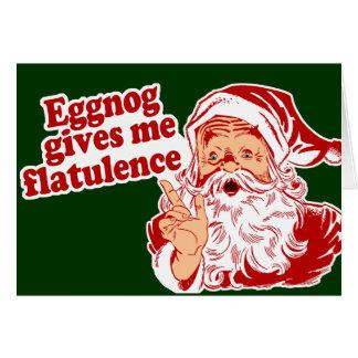 Eggnog Gives Santa Flatulence Greeting Card