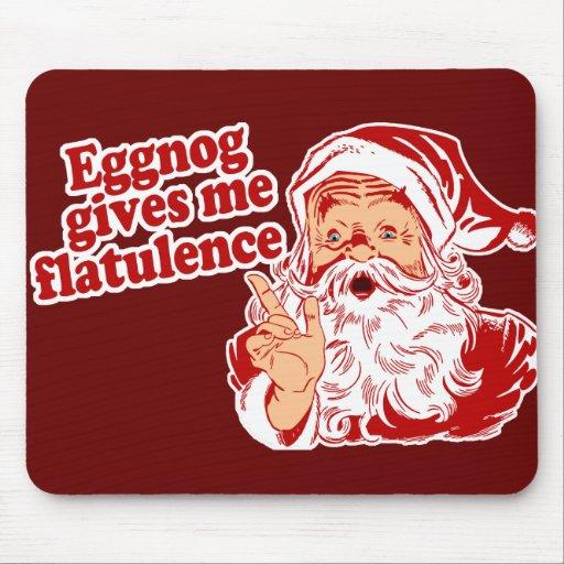 Eggnog Gives Santa Flatulence Mousepads