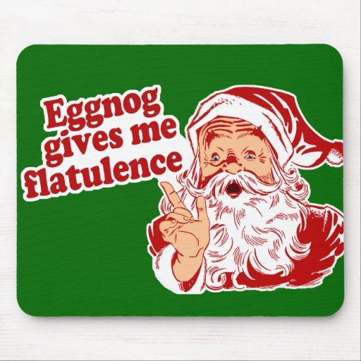 Eggnog Gives Santa Flatulence Mousepad
