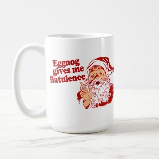Eggnog Gives Santa Flatulence Mug