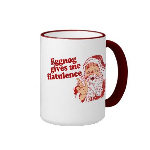 Eggnog Gives Santa Flatulence Ringer Coffee Mug