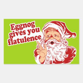 Eggnog Gives You Flatulence Rectangular Sticker