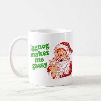 Eggnog Makes Santa Fart Coffee Mug