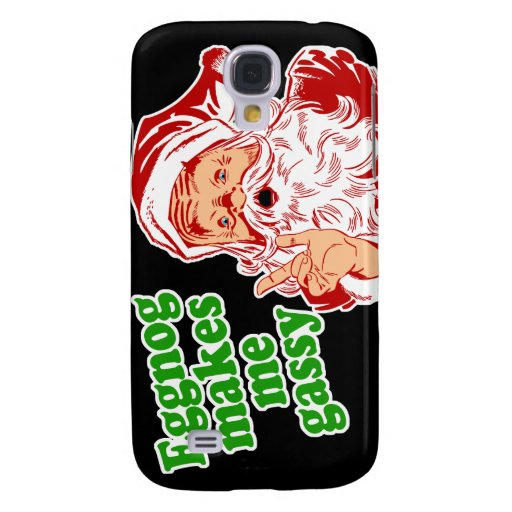 Eggnog Makes Santa Fart Galaxy S4 Cover