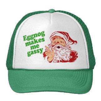 Eggnog Makes Santa Fart Mesh Hat