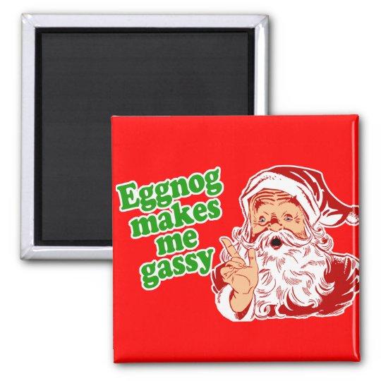 Eggnog Makes Santa Fart Magnet