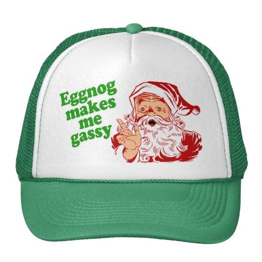 Eggnog Makes Santa Fart Trucker Hat