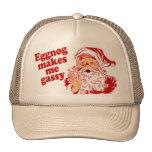 Eggnog Makes Santa Flatulent Trucker Hat