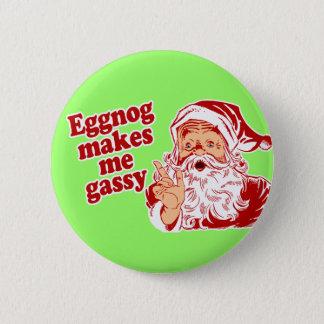 Eggnog Makes Santa Gassy Button