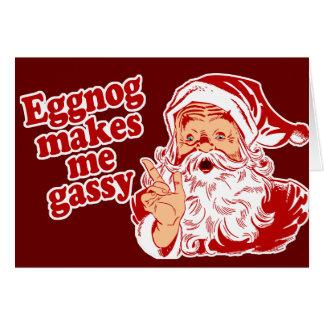 Eggnog Makes Santa Gassy Greeting Cards