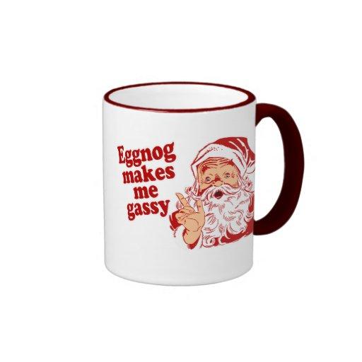 Eggnog Makes Santa Gassy Coffee Mugs