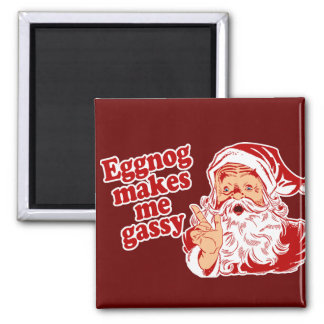 Eggnog Makes Santa Gassy Magnet