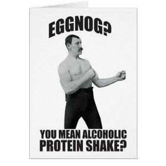 Eggnog? You Mean Alcoholic Christmas Greeting Card
