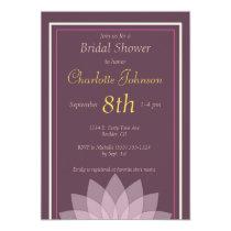 Eggplant and Blush Pink Floral Bridal Shower Card