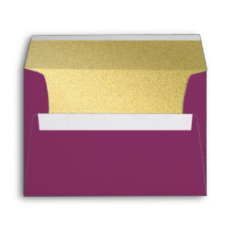 Eggplant and Gold Color Block Envelope