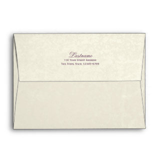 Eggplant and Ivory Envelope