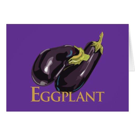Eggplant Aubergine Greeting Card