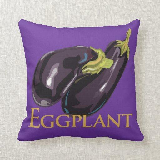 Eggplant Aubgergine Throw Pillow Zazzle