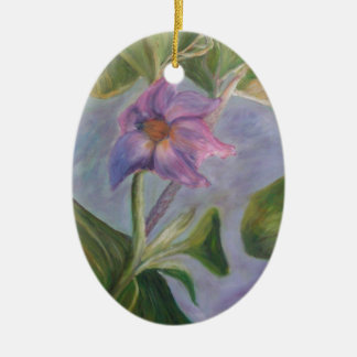EGGPLANT BLOSSOM Ceramic Ornament