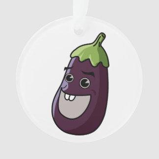 Eggplant cartoon ornament
