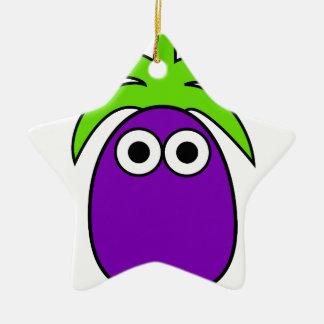 Eggplant Ceramic Ornament