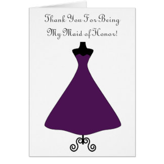 Eggplant Colored Maid of Honor Bridesmaid Card