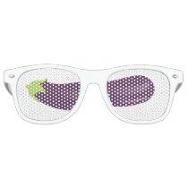 Eggplant emoji retro sunglasses