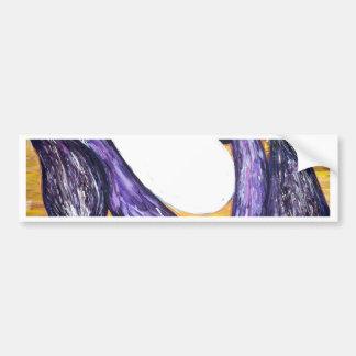 Eggplant Extravaganza original art from painting Bumper Sticker