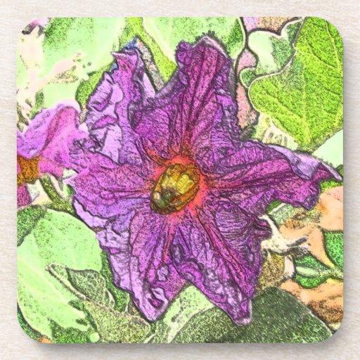 Eggplant Flower Coaster