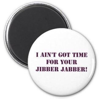 Eggplant Jibber Jabber Magent 2 Inch Round Magnet