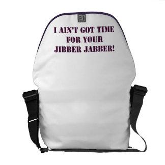 Eggplant Jibber Jabber Messenger Bag