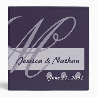 EGGPLANT & LAVENDER Wedding Photo Planner Binder