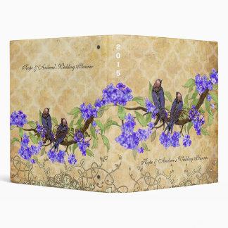 Eggplant Love Bird Purple Cherry Blossom Binder