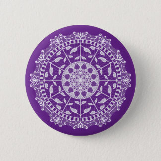 Eggplant Mandala Button