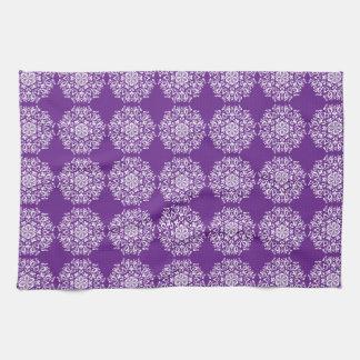 Eggplant Mandala Towel
