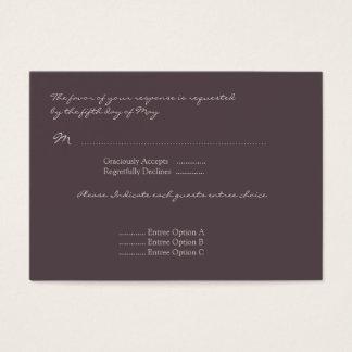 Eggplant Poppy Response Card