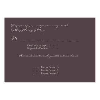 Eggplant Poppy Response Card Large Business Card