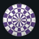 """Eggplant Purple And White Dart Board<br><div class=""""desc"""">Eggplant Purple And White Dart Board</div>"""
