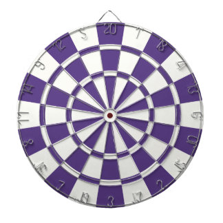 Eggplant Purple And White Dart Board